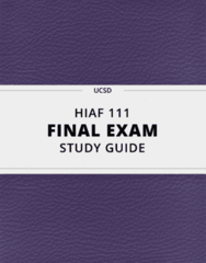 [HIAF 111] - Final Exam Guide - Ultimate 45 pages long Study Guide!