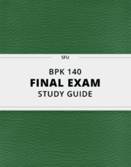 [BPK 140] - Final Exam Guide - Ultimate 112 pages long Study Guide!