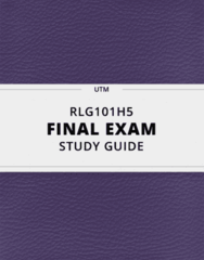 [RLG101H5] - Final Exam Guide - Everything you need to know! (31 pages long)
