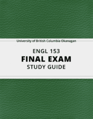 [ENGL 153] - Final Exam Guide - Ultimate 33 pages long Study Guide!