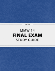 [MMW 14] - Final Exam Guide - Everything you need to know! (42 pages long)