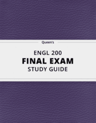 [ENGL 200] - Final Exam Guide - Comprehensive Notes fot the exam (25 pages long!)