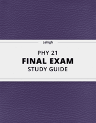 [PHY 21] - Final Exam Guide - Comprehensive Notes fot the exam (23 pages long!)