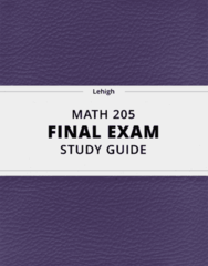 [MATH 205] - Final Exam Guide - Everything you need to know! (35 pages long)