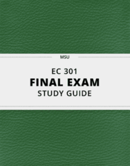[EC 301] - Final Exam Guide - Everything you need to know! (48 pages long)