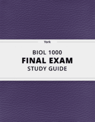 [BIOL 1000] - Final Exam Guide - Comprehensive Notes fot the exam (76 pages long!)