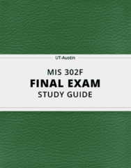 [MIS 302F] - Final Exam Guide - Comprehensive Notes fot the exam (24 pages long!)