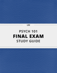 [PSYCH 101] - Final Exam Guide - Ultimate 89 pages long Study Guide!