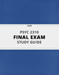 [PSYC 2310] - Final Exam Guide - Comprehensive Notes fot the exam (131 pages long!)