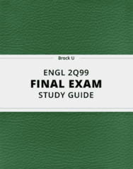 [ENGL 2Q99] - Final Exam Guide - Everything you need to know! (23 pages long)
