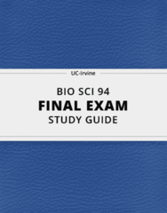 [BIO SCI 94] - Final Exam Guide - Ultimate 152 pages long Study Guide!