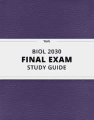 [BIOL 2030] - Final Exam Guide - Ultimate 144 pages long Study Guide!