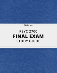 [PSYC 2700] - Final Exam Guide - Comprehensive Notes fot the exam (70 pages long!)