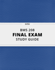 [BMS 208] - Final Exam Guide - Everything you need to know! (101 pages long)