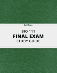 [BIO 111] - Final Exam Guide - Everything you need to know! (29 pages long)
