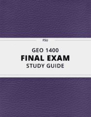 [GEO 1400] - Final Exam Guide - Everything you need to know! (54 pages long)