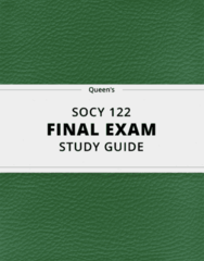 [SOCY 122] - Final Exam Guide - Comprehensive Notes fot the exam (24 pages long!)