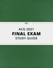 [ACG 2021] - Final Exam Guide - Everything you need to know! (49 pages long)
