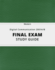 [Digital Communication 2001A/B] - Final Exam Guide - Ultimate 130 pages long Study Guide!