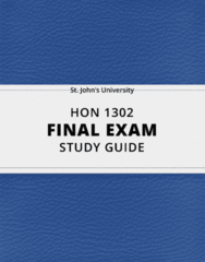[HON 1302] - Final Exam Guide - Everything you need to know! (59 pages long)