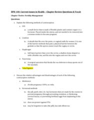 BPK 140 Chapter Notes - Chapter 12: Tubal Ligation, Vas Deferens, Cervix