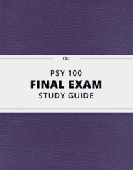 [PSY 100] - Final Exam Guide - Comprehensive Notes fot the exam (33 pages long!)