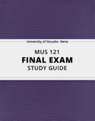 [MUS 121] - Final Exam Guide - Ultimate 34 pages long Study Guide!