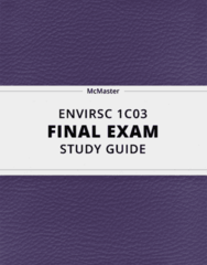 [ENVIRSC 1C03] - Final Exam Guide - Comprehensive Notes fot the exam (33 pages long!)
