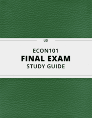 [ECON101] - Final Exam Guide - Comprehensive Notes fot the exam (47 pages long!)