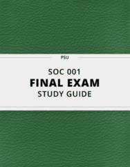 [SOC 001] - Final Exam Guide - Everything you need to know! (26 pages long)