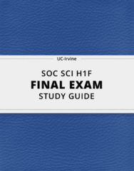 [SOC SCI H1F] - Final Exam Guide - Everything you need to know! (125 pages long)