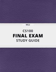 [CS100] - Final Exam Guide - Everything you need to know! (26 pages long)