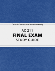 [AC 211] - Final Exam Guide - Everything you need to know! (33 pages long)