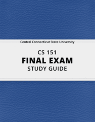 [CS 151] - Final Exam Guide - Ultimate 30 pages long Study Guide!