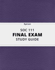 [SOC 111] - Final Exam Guide - Everything you need to know! (27 pages long)