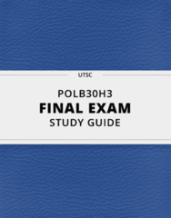 [POLB30H3] - Final Exam Guide - Comprehensive Notes fot the exam (35 pages long!)