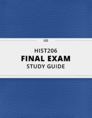 [HIST206] - Final Exam Guide - Comprehensive Notes fot the exam (36 pages long!)