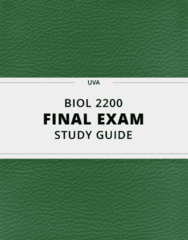 [BIOL 2200] - Final Exam Guide - Ultimate 110 pages long Study Guide!