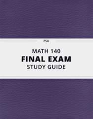 [MATH 140] - Final Exam Guide - Ultimate 113 pages long Study Guide!