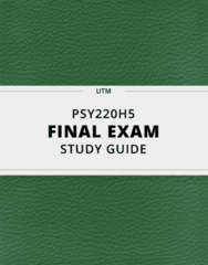 [PSY220H5] - Final Exam Guide - Everything you need to know! (42 pages long)
