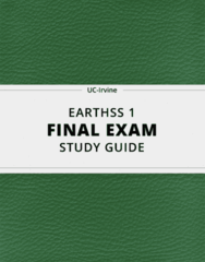 [EARTHSS 1] - Final Exam Guide - Comprehensive Notes fot the exam (24 pages long!)