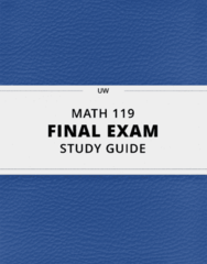 [MATH 119] - Final Exam Guide - Everything you need to know! (40 pages long)