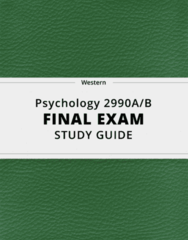 [Psychology 2990A/B] - Final Exam Guide - Ultimate 75 pages long Study Guide!