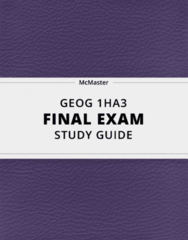 [GEOG 1HA3] - Final Exam Guide - Ultimate 85 pages long Study Guide!