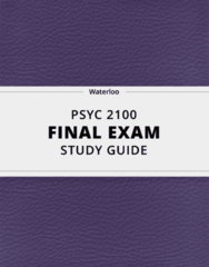 [PSYC 2100] - Final Exam Guide - Comprehensive Notes fot the exam (46 pages long!)