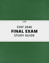[STAT 2040] - Final Exam Guide - Comprehensive Notes fot the exam (26 pages long!)