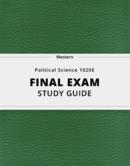[Political Science 1020E] - Final Exam Guide - Ultimate 43 pages long Study Guide!