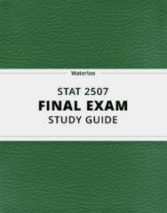[STAT 2507] - Final Exam Guide - Comprehensive Notes fot the exam (32 pages long!)