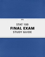 [STAT 100] - Final Exam Guide - Everything you need to know! (86 pages long)