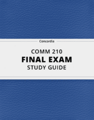 [COMM 210] - Final Exam Guide - Everything you need to know! (25 pages long)